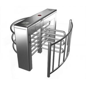 China Stainless Steel Biometric Full Height Turnstile With LED Display For Apartment on sale