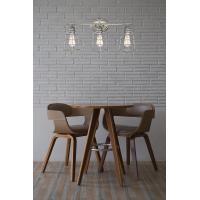 China 26 3-Light Industrial Vanity/Bathroom Light + Metal Cage Shades, Galvanized Steel Finish on sale