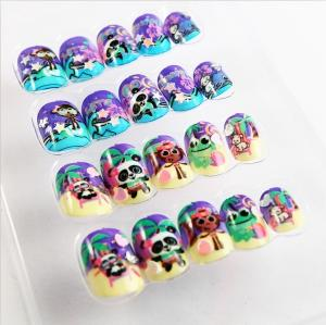 China Colorful Artificial Fingers Fake Nails French Style With Magic Color Changing on sale