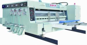 China corrugated carton printing machine with slotter and die-cutting on sale