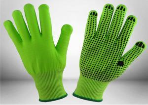 China Black Nitrile Dots Puncture Resistant Gloves , Nitrile Work Gloves EN388 Certificated on sale