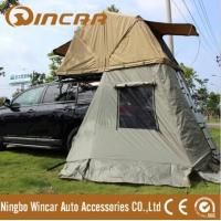 Auto camping roof tent use YKK zipper ripstop canvas roof top tent from Ningbo Wincar