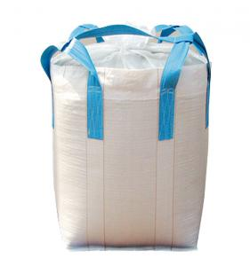 China 2205lbs Fibc Bulk Bags , Plain Stitching PP Empty Jumbo Bags With Duffle Top on sale