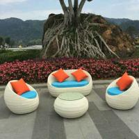 China manufacture outdoor garden furnitures indoor rattan chair sets