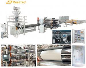 China 450 - 750 Kg/Hour Capacity Plastic Sheet Extrusion Machine / Acrylic Sheet Making Machine on sale