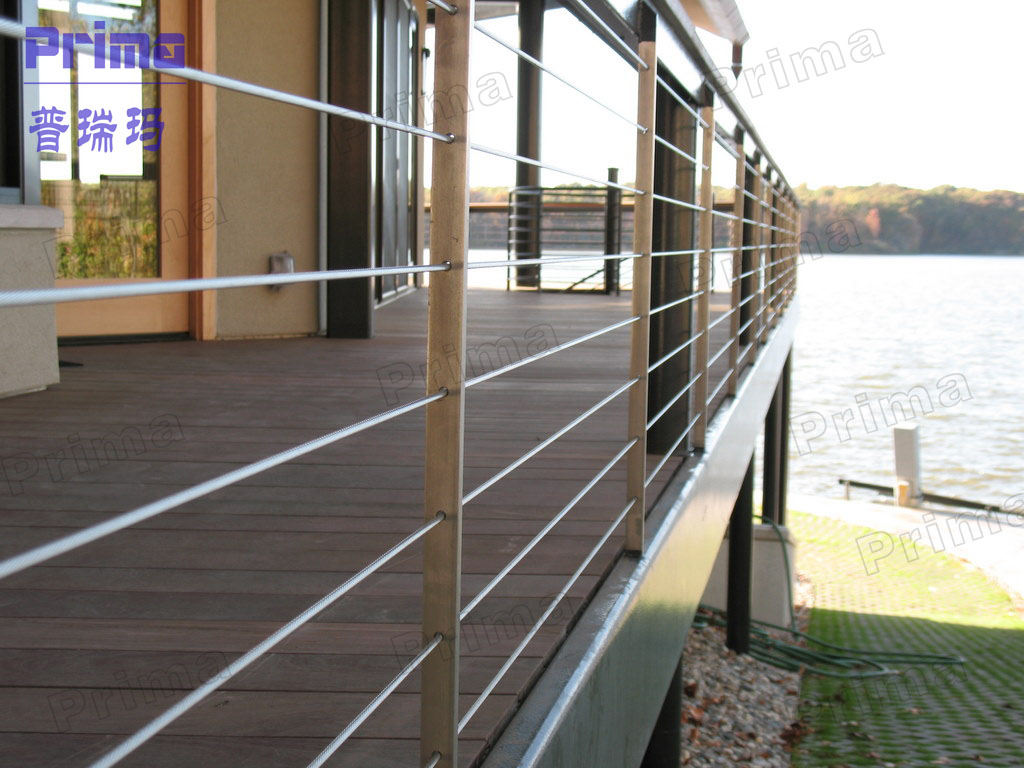 Balcony Stainless Steel Railing With Stainless Steel Handrail Design