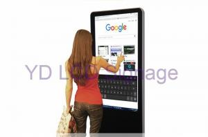 China 43 Inch Digital Media Signage , Touch Screen Information Kiosk With LED Backlight on sale