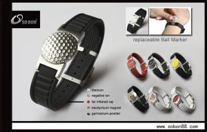 China Custom Magnetic Titanium Bracelets , 316L Stainless Steel Clasp on sale