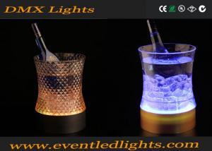 China Yellow / Blue Acrylic Lighted Ice Bucket With Led For Wedding on sale
