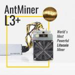 Antminer L3+  hash rate 600Mh btc mining machine Scrypt algorithm DGB coin 850W