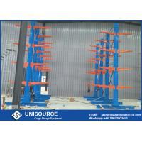 Q235 Steel Cantilever Lumber Storage Racks For Sheet Metal / Lumber / Piping