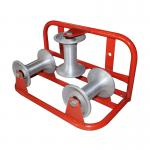 1T Rated Load Electrical Cable Pulling Tools Tri - Roller Corner Cable Roller Assembly