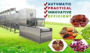 China Industrial Microwave Dryer , Rose Bud / Jasmine Flower Drying Fixing Machine on sale