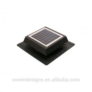 China ABS 8W 12v Solar Powered Roof Ventilator With Black Color / Customized Color on sale