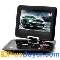 10 Inch Swivel Screen Portable DVD player (Hitachi 120x Lens, 1024*600, 16:9)