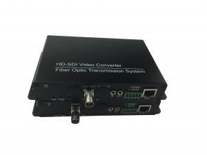 China 1-Ch SDI 1080P Video Hd Sdi To Fiber Optic Converter With 1 Ch Forward Audio on sale