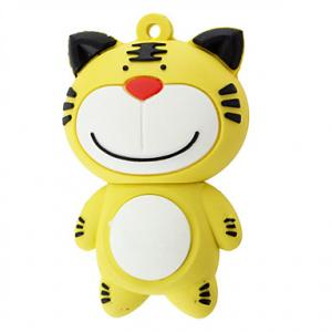 China Tiger Shaped USB 2.0 Flash Drive  Promotional Customized PVC lowest price on sale