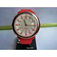 China Red Sporty Mens Analog Watch with EL Light / Male LED Analog Watches on sale