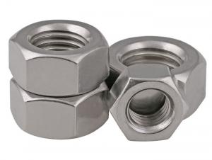Metric 36 mm Width Across Flats DIN 934 316 Stainless Steel Hex Nut M24-3 Thread Size Plain Finish 19 mm Thick Small Parts