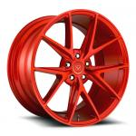 Chinese customize deep dish 1 pc flow forged red color wheel rim