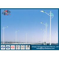 China 10 Meters Conical Steel Street Light Poles , Decorative Lighting Pole on sale