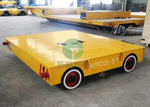 China Custom Multi-directional Battery Transfer Trackless Rail Flat Cart On Rubber Wheel on sale
