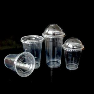 China Plastic Disposable Juice  cup , white or clear PP disposable cups for Juice drinking on sale