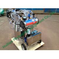 China Hand Operated Milk Sucking Machine Twin Buckets With Vacuum Pump on sale