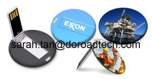 China Customized Colorful Printing High Quality Plastic Round Mini Card USB Memory Sticks on sale