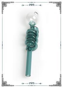 China 5.5 Inch Smoking Pipe Pyrex Glass Oil Burner Mini Helix Water Bong Ball Balancer on sale