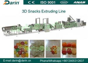 China Automation Snack Extruder Machine , 3 D Snack Pellets Fryums Making Machine on sale