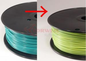 China Blue green to yellow green Color Changing Filament Material , 3MM PLA Filament 1KG / Spool on sale
