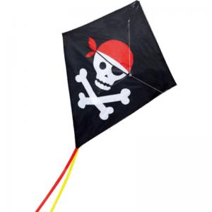 China Pirate Pattern Nylon Stunt Kite , Fiberglass Frame Kids Stunt Kite 124*152cm on sale