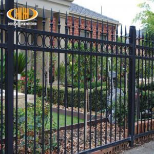 China victorian style antique black wrought iron fence metal ornaments horse fencing steel swimming pool fence on sale