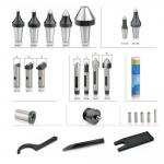 Centers accessories tips pins lubricating oil nipple key sleeve spanner pin punch for options