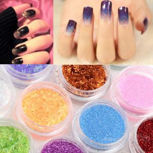 China Tiny PET Glitter Powder Hexagonal For Nail Art Acrylic Tips Decoration on sale