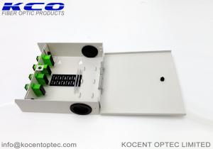 China 8 Core Fiber Optic Terminal Box FTB OTB Wallmount FTTH SC/APC Duplex Steel Tape on sale