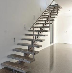 Quality Modern Straight Single Stringer Steel Staircase Design For Sale ...