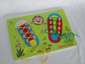 Cheap Educational Toys : Cheap unique shoelace basswood early childhood educational toys for
