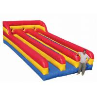Three Lanes Inflatable Sports Toys Bungee Run Abrasion Resistance For Kids And Adults