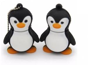 China Cartoon Character Anima  Penguin PVC USB Flash Drive USB 2.0   32GB 64GB 128GB High Capacity on sale