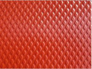 China Diamond Embossed Pre Painted Galvanized Sheet , Light Weight Color Coated Coil on sale