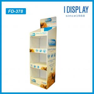 China 4 tiers baby diapers floor standing cardboard display, cardboard floor display on sale