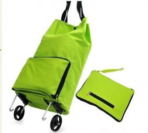 China Folding shopping bag with wheels on sale