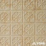 painel de parede de pedra bege dourado do CNC 3D