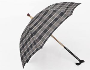 China Adjustable Length Walking Stick Umbrella High Quality Classic Straight Crutch Umbrella on sale