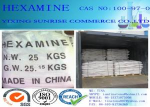 China Hexamine Foundry Chemicals CAS 100-97-0 White Crystal Common Military Fuel on sale