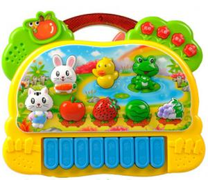 China Musical Educational Cute Baby Toys With Animal Farm Piano Music on sale
