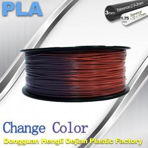 China Variable Temperature 3D Printer PLA Color Changing Filament 1.75 / 3.0mm on sale