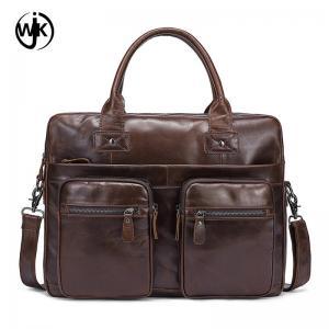 China Handmade men document handbag crazy horse leather bags business man leather crossbody handbag on sale